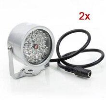 2 pièces 48 LED illuminateur lumière CCTV IR infrarouge lampe de Vision nocturne pour caméra de sécurité