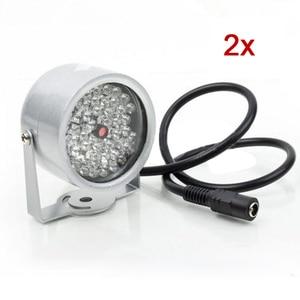 Image 1 - 2 pièces 48 LED illuminateur lumière CCTV IR infrarouge lampe de Vision nocturne pour caméra de sécurité