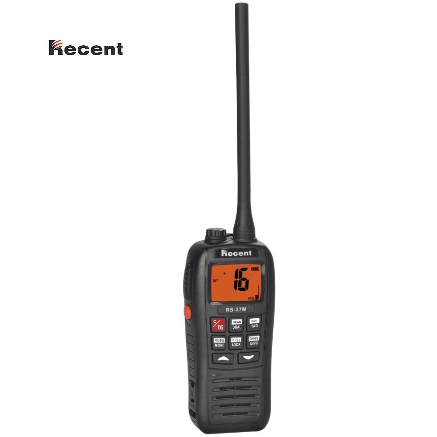 RÉCENTE RS-37M IPX7 VHF Portatif Radio Marine Flottant Flotteurs Imperméable À L'eau Haute Performance Triple veille 156 ~ 161.450 mhz Jambon émetteur-récepteur