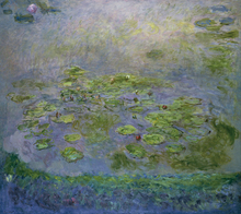 Oil Painting Claude Monet Water Lilies  Canvas Wall Art Printed Reproduction On