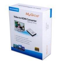 Conversor de vídeo hdmi av cvbs ypbpr s-viceo para conversor de hdmi upconverter 1080 p componente composto