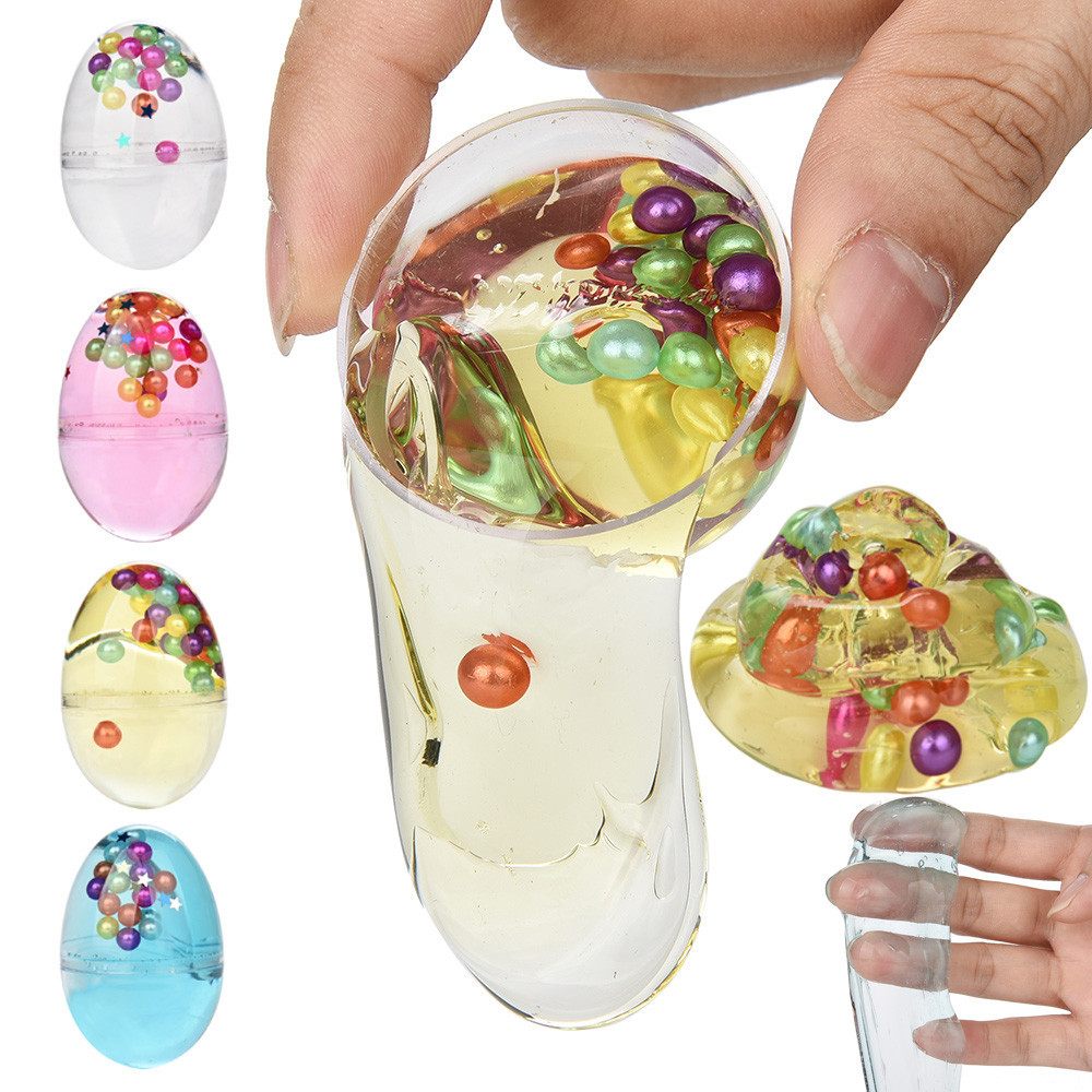 Kids Fun Toy Gift Anti-stress DIY Pearl Mud Egg Colorful Soft DIY Slime Clay Fluffy Floam Slime Toy Sludge Toys