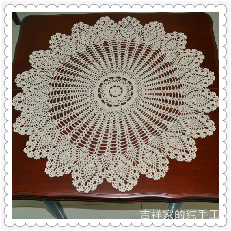 Free Shipping 85cm Cotton Crochet Tablecloth For Wedding Decoration