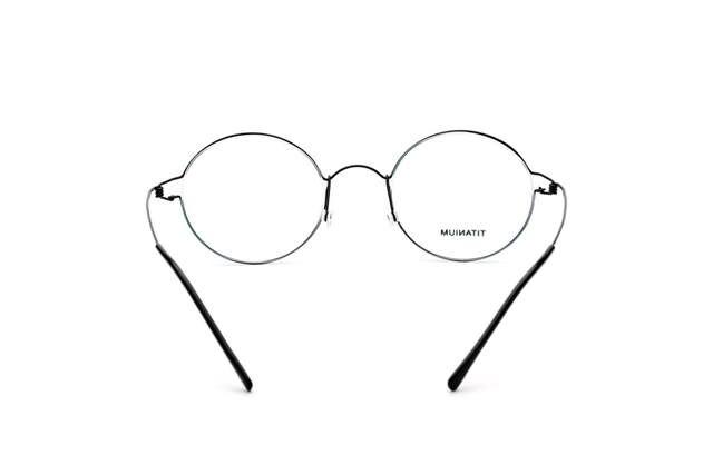185c9b0196e placeholder 100% Real Titanium Men Round Denmark Korean Moon Jae-in Glasses  Frames Screwless Eyewear