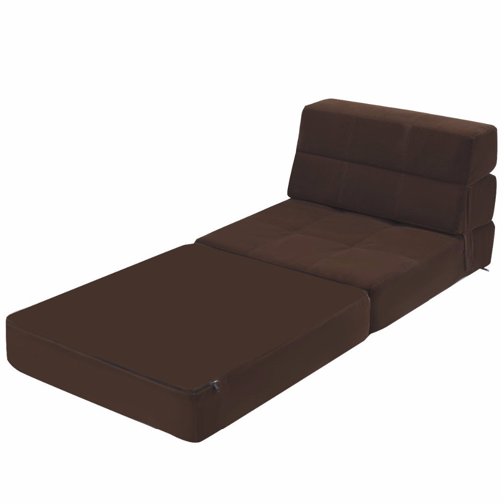 Wondrous Tri Fold Fold Down Chair Flip Out Lounger Convertible Sleeper Bed Couch Dorm New Living Room Furniture Creativecarmelina Interior Chair Design Creativecarmelinacom