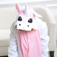 Ensnovo Child Onesies Cute Unicorn Pajamas For Boys Girl Polar Fleece Costume Cartoon Animal Pyjamas Sleepwear