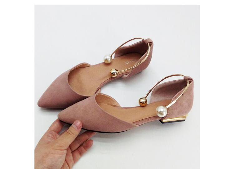 Elegante delle donne comode scarpe basse sandali estate 2017 in vera ... f15bb258a00