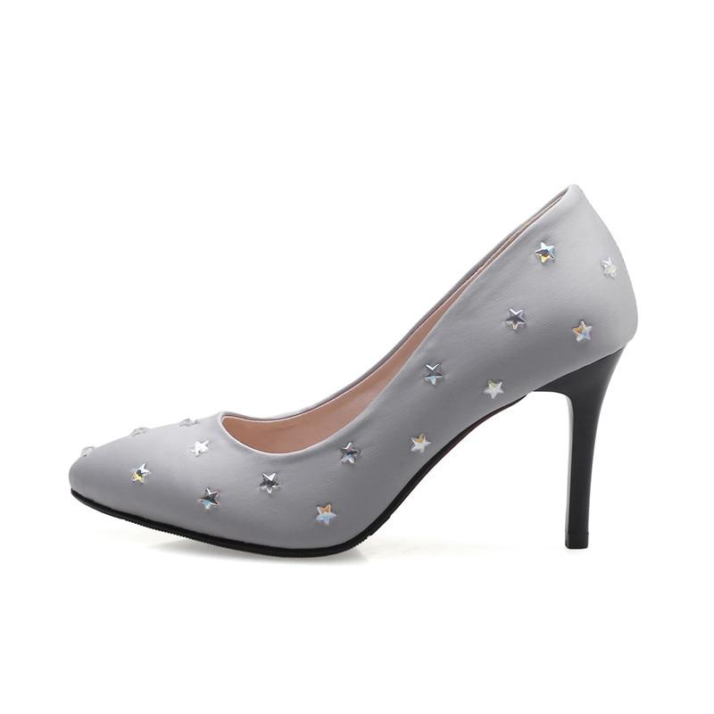 Soie Parti Des Bonjomarisa Étoiles Supérieure De gris Femme Femmes Heel Pompes Plate Mariage forme High Noir Taille Point Grand rouge Impression 43 Chaussures Moins Toe 32 2019 wwAEW8q6r