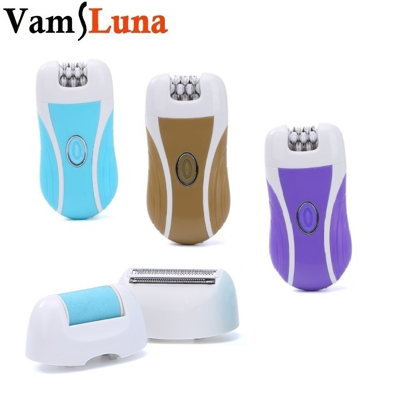 Woman <font><b>Epilator</b></font> <font><b>3</b></font> <font><b>In</b></font> <font><b>1</b></font> Hair Removal Electric Callus Shaver Rechargeable Cordless Depilator Smooth for Skin image