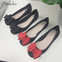 Summer Square Toe Plastic Women Candy Casual Jelly Shoes Bowtie Rain Boot Woman Ladies Beach Shoes