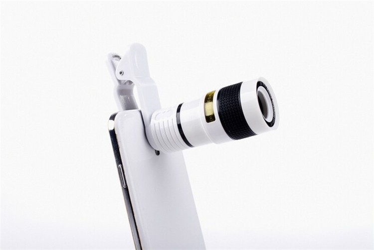 Univesal New 5in1 8X Zoom Phone Camera Lens Telescope with Flexible Tripod 3in1 lens Fisheye Lens Wide Lens Macro for smartphone 17