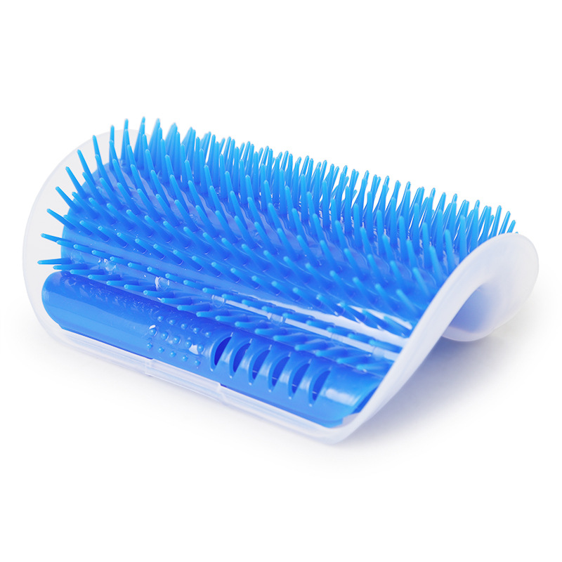 Cat Toys Kitten Pet Cat Hair Remover Brush Self Groomer with Catnip Pouch in Wall and Table Corner Massage Grooming Brush