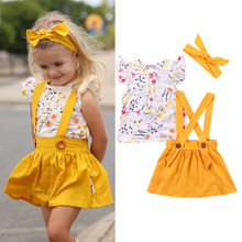 Toddler girls Clothing Set Summer Baby Floral dress Children Kid Clothes Outfit lol vestidos princess cute free ship party children print clothing baby girls toddler princess clothes european american cotton kid short sleeve summer flower floral dress