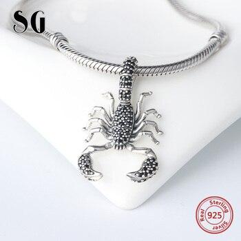 SG fashion christmas Scorpion beads charms pandora silver 925 original women accessories for bracelets wholesale jewelry making