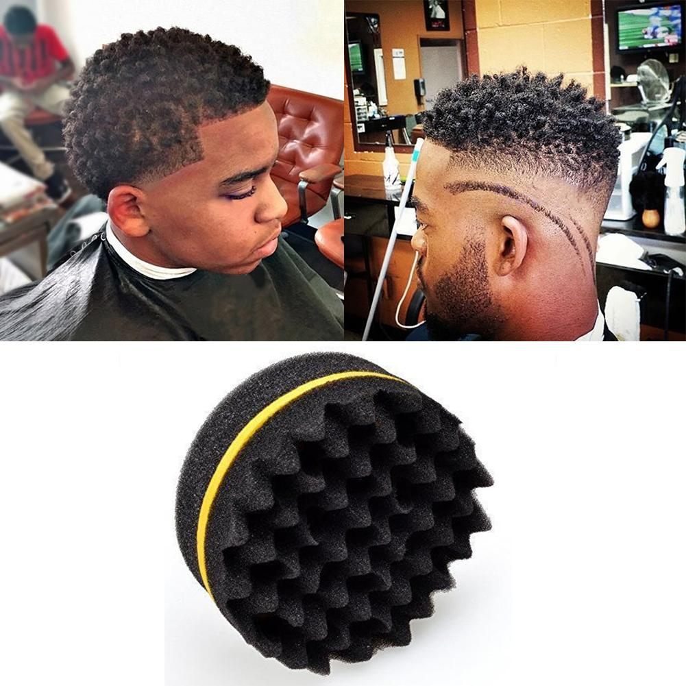 HOT Sale 1Pc Salon Barber Wave Double Sided Hair Brush Sponge For Dreads Coil Locs Curl Twist