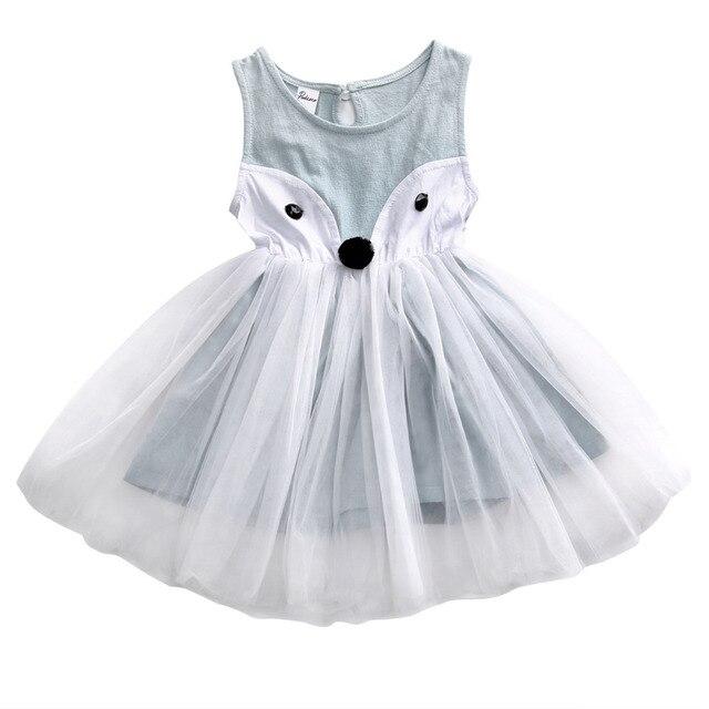 Nette Baumwolle Kleinkind Baby Mädchen Kleid Kinder Fuchs Lace ...