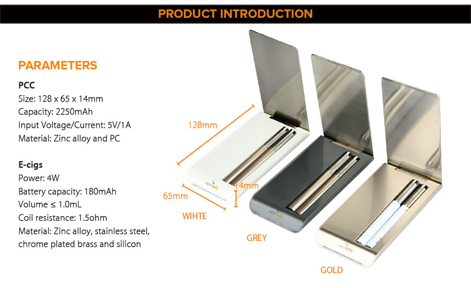 , 100% Original VapeOnly New Malle PCC Kit with Malle S Ecig 2250mAh & 2pcs Malle S 180mAh Battery & 0.8ml Atomizer E-cig Vape Kit