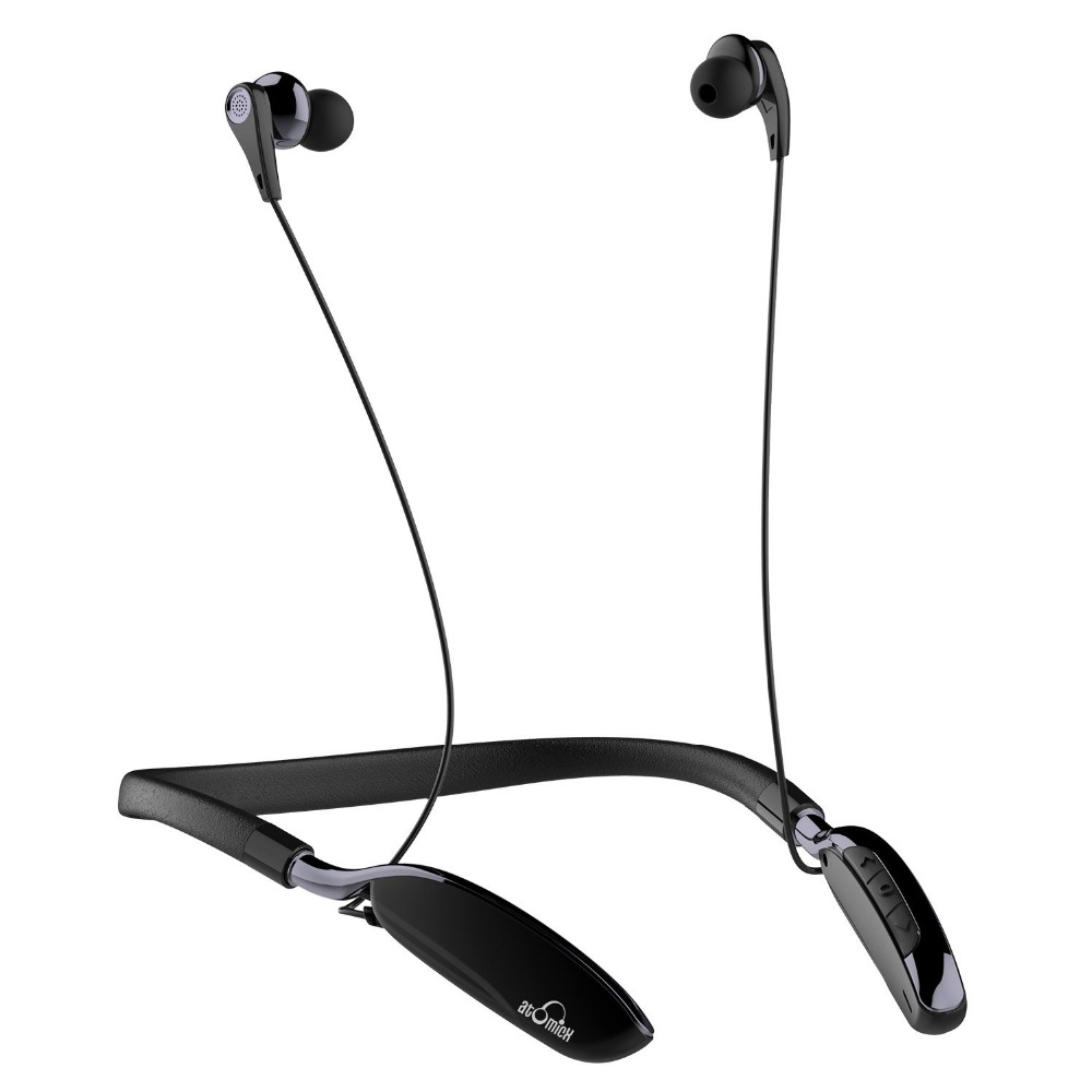 iDeaUSA V205 Neckband In-ear Earphone Sweatproof Active Noise Cancelling Wireless Bluetooth Headphone for Sports Built-in Mic ideausa v205 neckband in ear earphone sweatproof active noise cancelling wireless bluetooth headphone for sports built in mic