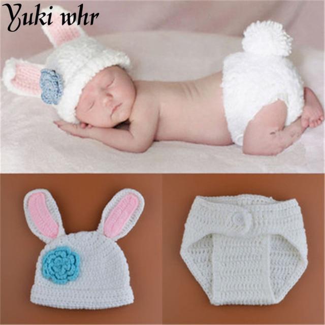new styles baby rabbit costume girl flower hat newborn crochet