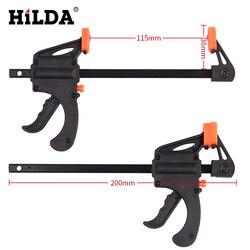 HILDA 2 sztuk 4 Cal drewna zacisk roboczy szybka prędkość zwolnienia prędkości Squeeze dla narzędzia ręczne diy w Zestawy narzędzi ręcznych od Narzędzia na