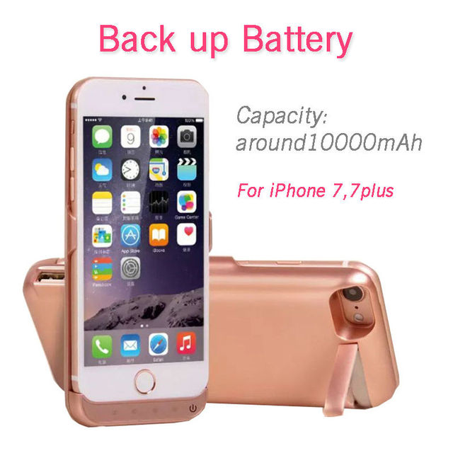 Charger case for iPhone 7,7plus 10000mAh backup battery Wireless Charging Power Bank Portable external charge phone case