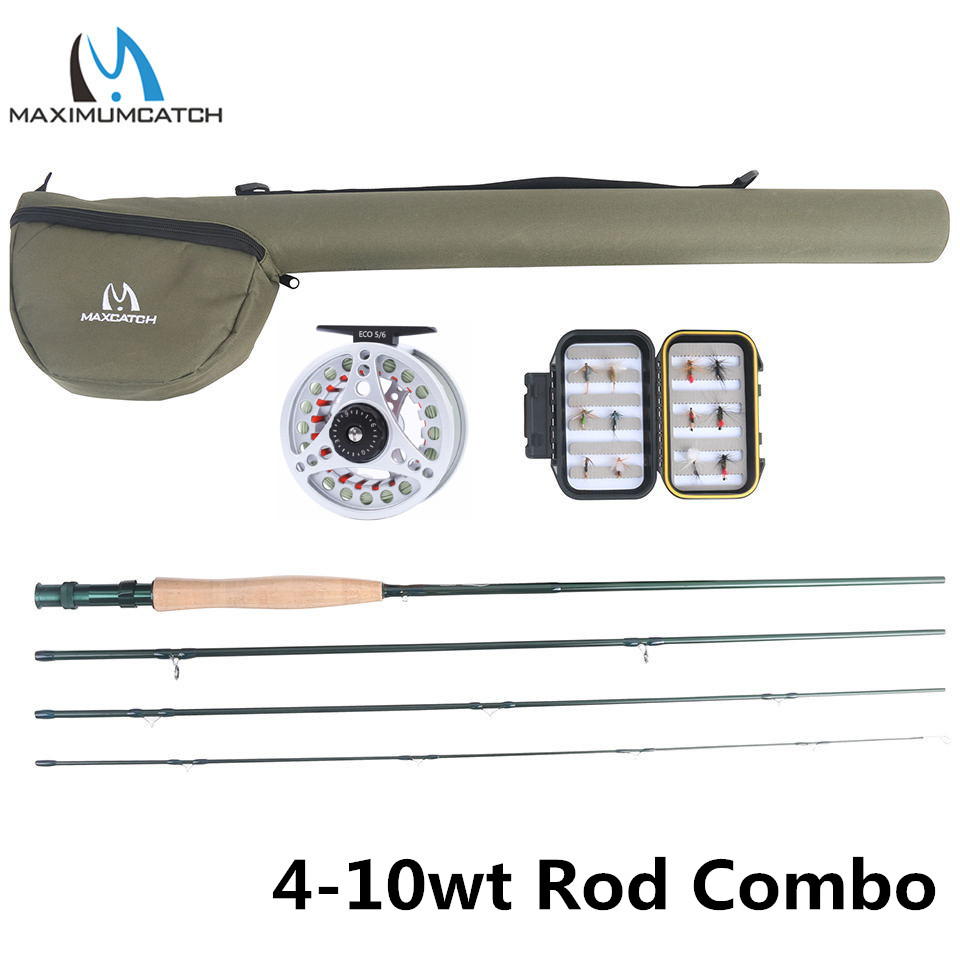 Maximumcatch Extreme 8 9 10FT 3 8WT Medium fast Carbon Fiber Fly Rod with Graphite Reel