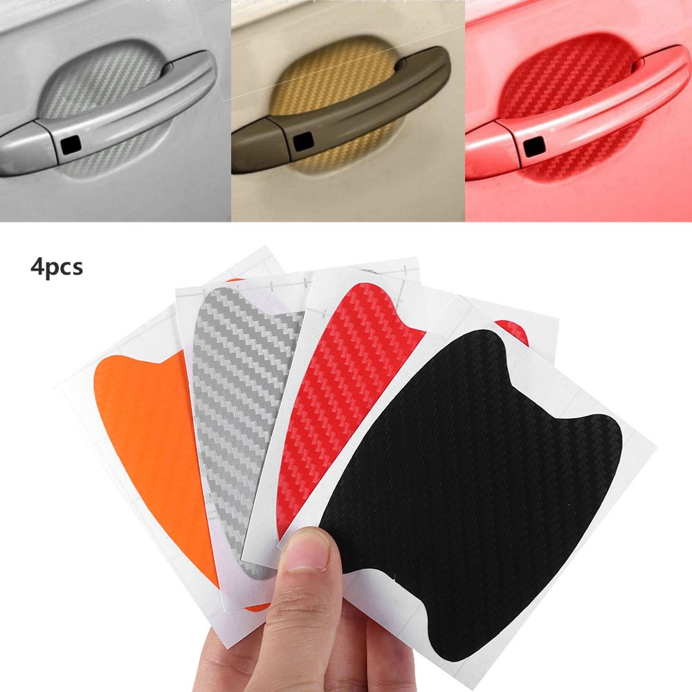 4Pcs/Set Car Door Film Sheet Handle Scratch Sticker Scratch Protector Cover Car Scratch Protector Sticker Exterior Accessories