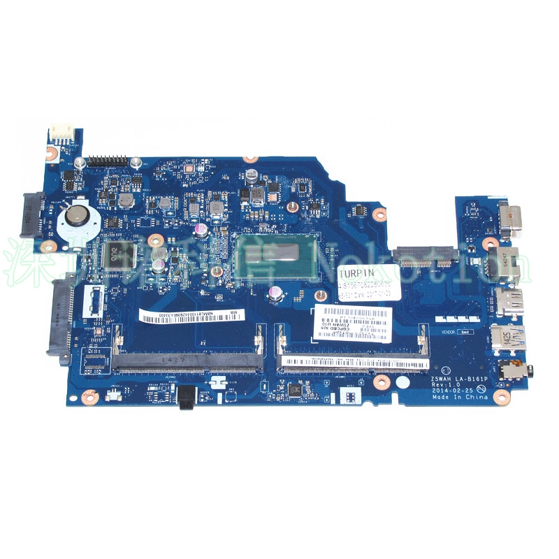 NOKOTION Z5WAH LA-B161P NBML811004 NB.ML811004 Laptop motherboard For acer aspire E5-531 E5-571 E5-571P SR1EF I5-4210U mainboard nokotion da0zrtmb6b0 n9mvrww001 n9 mvrww 001 for acer aspire e5 573 e5 573g laptop motherboard i3 5005u hd5500 940m