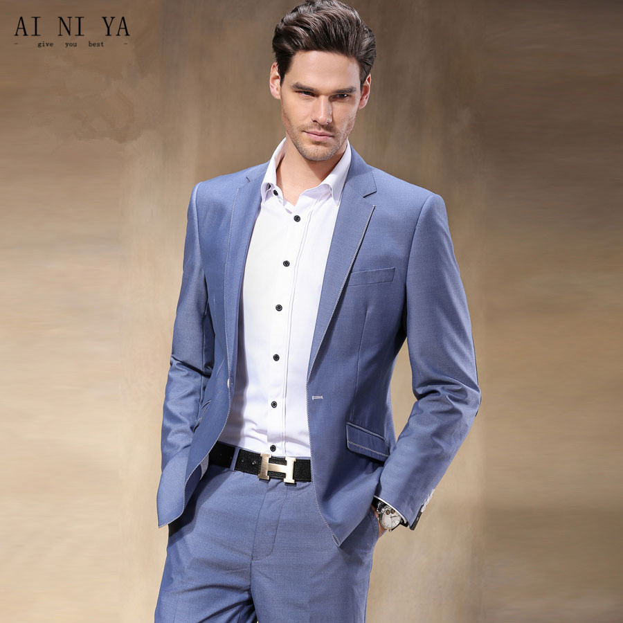 Aliexpress.com : Buy The arrival of a new simple style of man suit (suit) custom tailored ...