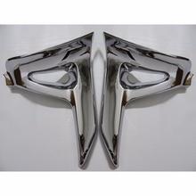 2x хром обтекатель комплект Батарея боковая крышка планки для Honda GL 1800 2001-2006 2001 2002 2003 2004 2005 2006 [PA381]