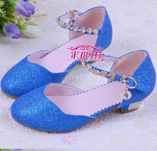 Chaussure enfant High-heeled girl party elsa shoes princess 2015 sandalias  sapato infantil menina children shoes female 08 f58d60642be1
