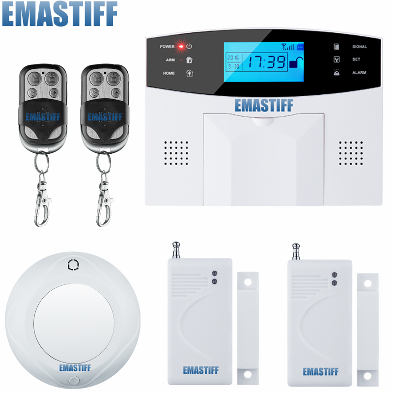 Free Shipping! Wireless GSM Alarm System Inturder Alarm System Touch Keypad smart gsm SMS home security alarm system wireless smoke fire detector for wireless for touch keypad panel wifi gsm home security burglar voice alarm system