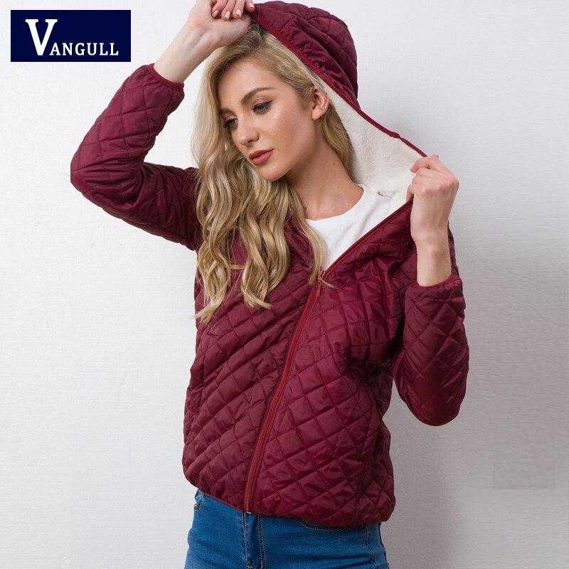Autumn 2019 New Parkas basic jackets Female Women Winter plus velvet lamb hooded Coats Cotton Winter Jacket Womens Outwear coat 3