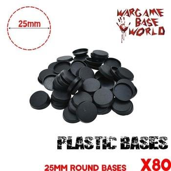 Gaming Miniatures bases 80pcs  25mm round plastic - sale item Building & Construction Toys