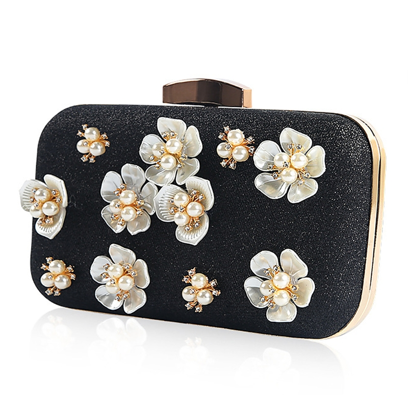 Luggage & Bags Glorious Thinkthendo New Clutch Evening Bags For Women 2018 Fashion Party Flower Glitter Metal Chain Luxury Handbags Wedding Prom Purses Fine Quality