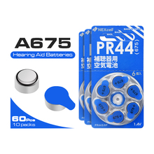 60 PCS NEW Zinc Air 1.4V High Quality ZA675 Button Cell Hearing Aid Batteries 675A A675 675 PR44 Battery