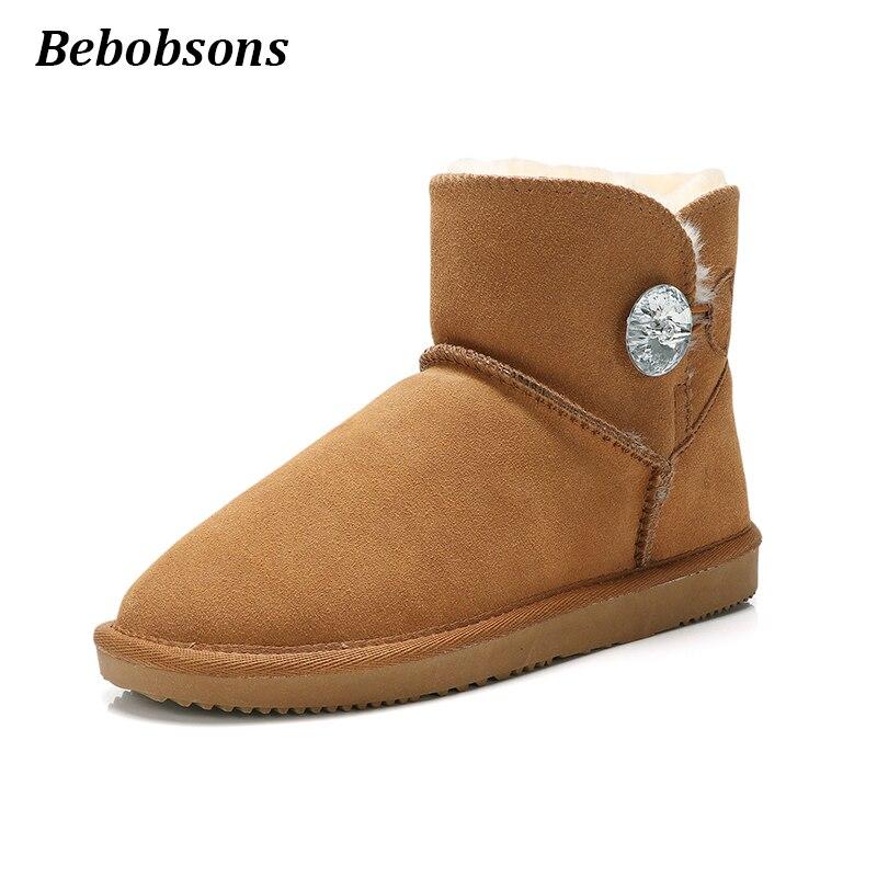 ec93792c5 gray Mujer Genuino 52 Tamaño 42 Planos Para Black Nuevas 52 Zapatos Marca  52 chestnut Botas Tobillo Nieve Australiana Cuero ...