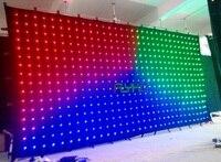Бесплатная доставка P180MM 3X6 м Новый светодио дный led vision шторы рождественских украшения