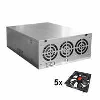 Crypto Coin Open Air Mining Frame Rig Graphics Case ATX Fit 6 8 GPU Mining Case