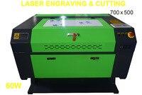 60 Вт CO2 USB лазерная гравировка резки 700x500 мм гравер резцом древесины рабочих ремесел принтер, резак