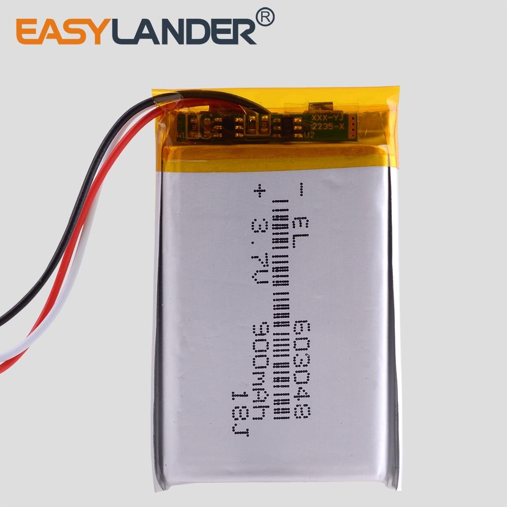 3 Line 3.7V,900mAH,[603048] PLIB ( Polymer Lithium Ion / Li-ion Battery ) For Dvr;mp5,GPS,mp3,mp4,cell Phone,speaker