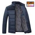 2016 новый Бренд зима теплая Куртка для мужчин с капюшоном пальто вскользь мужские толстый слой мужской тонкий случайные хлопка проложенный вниз случайный теплый