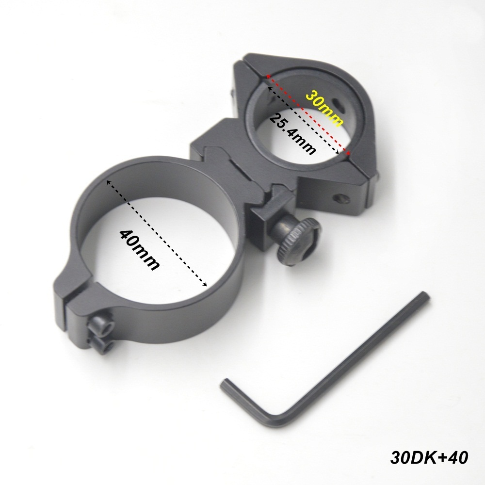 Alonefire 25mm 30mm 40mm umfang ringe dual ring cantilever zielfernrohrmontage hohe qualität 20mm tactical jagd schiene montieren 1 stück