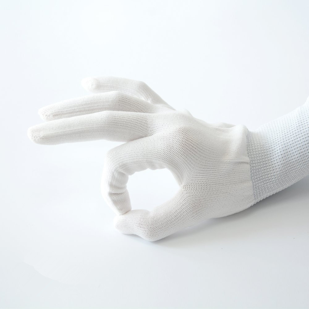 Vinyl Anti-static Window Car Wrap Gloves 1 Pair Tinting Work Gloves Nylon Carbon Fiber Stickers Install Tool Vinyl