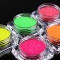 2g Polvo De Fósforo de Neón Polvo de Pigmento Fluorescente Brillante Manicura Nail Art Decoración Accesorios 5 Colores