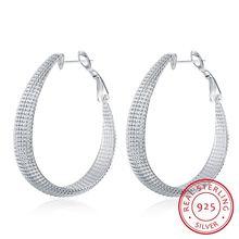 Женские серьги кольца lekani модные из стерлингового серебра