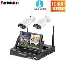 7 дюймов ЖК-дисплей Дисплей 4CH 1080P WI-FI NVR Камера видеонаблюдения системы безопасности Беспроводной NVR Kit дома WI-FI наружного наблюдения IP Камера 2CH