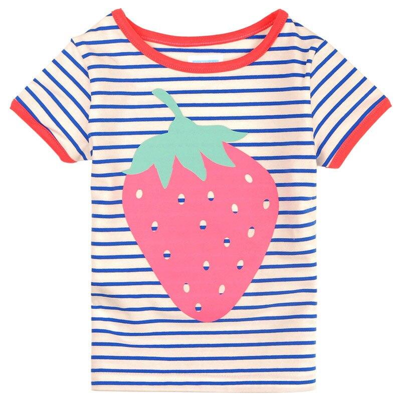 Girls T Shirts With Stripes Funny T Shirts Boys Tshirts Tee Kids Baby Tshirt Printed 2018 Fashion Summer Tops