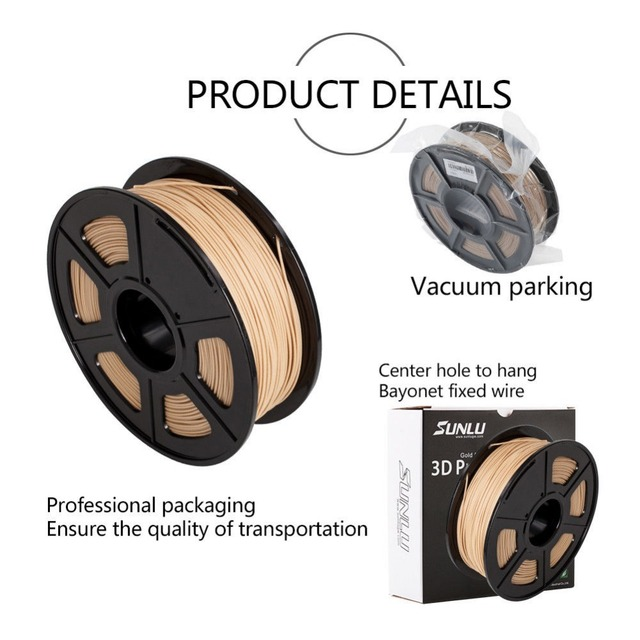 3D Printer Wood fiber Filament 1.75mm 1KG/Roll 2.2LB new DIY gift Wooden Effects Similar With PLA real as WOOD color