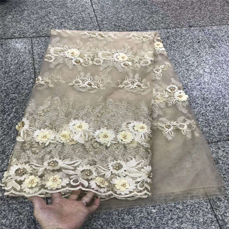 lace fabric with beads nigerian lace fabric wholesale african lace fabric 2018 high quality beaded lace fabric for wedding dress